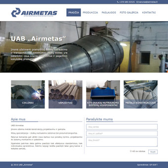 Sukurtas puslapis www.airmetas.lt