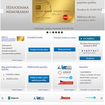 Sukurtas puslapis www.creditco.lt