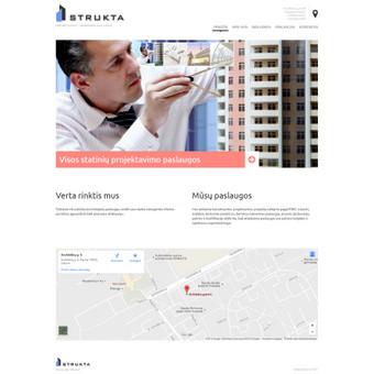 Sukurtas puslapis www.strukta.lt