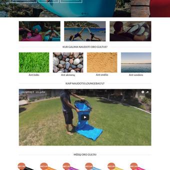Sukurta internetinė parduotuvė, panaudota WordPress TVS su el.komercijos moduliu.
