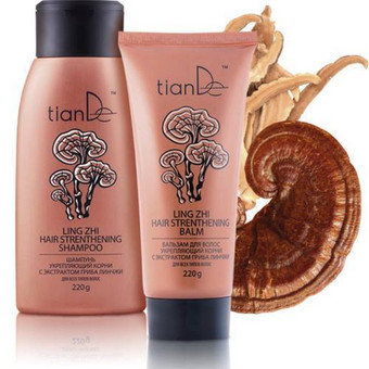 TianDe plaukų šampūnas su linčži grybo ekstraktu stiprinantis plaukų šaknis, 220 g. Šampūno sudėtyje esantis grybas linčži Kinijos Šventojoje augalų knygoje užima 1-ają vietą iš 36 ...