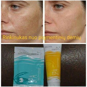 Pilingas ir kaukė nuo pigmentinių dėmių ir strazdanų. Priemonės šviesina odą.