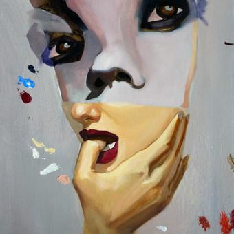 Kūrybinis portretas iš nuotraukos, aliejiniai dažai, drobė. (Parduotas)