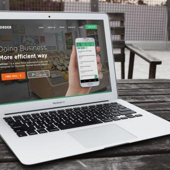 eorder.eu svetainės dizainas, bei realizacija webflow platforma.