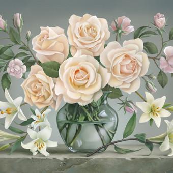 Gėlės. Tapyta pagal kliento pageidavimą