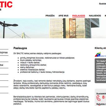 Tekstai interneto svetainei: http://www.svbaltic.lt/lt/paslaugos/
