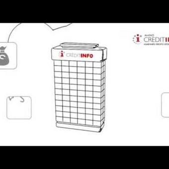 Credit info, 2D animacija, pieštinė video reklama