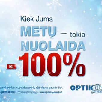 Optikos pasaulis, šventinė-akcijinė video grafikos reklama.