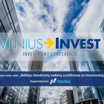 Vilnius Invest. Video grafikos reklama, kvietimas į konferenciją.