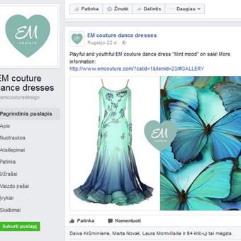 EM couture, Facebook administravimas