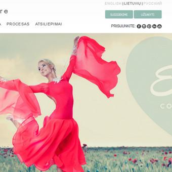 EM couture, tinklapio kūrimo koordinavimas, svetainės administravimas