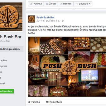Push Bush Bar, Facebook