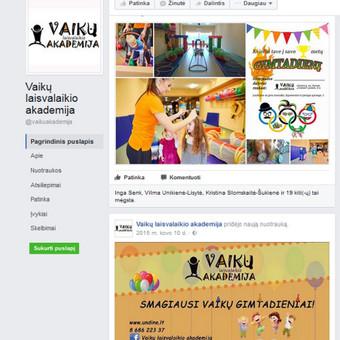Vaikų laisvalaikio akademija, Facebook
