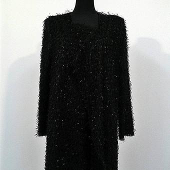 Moteriškas pūkuotas paltas/ megztinis