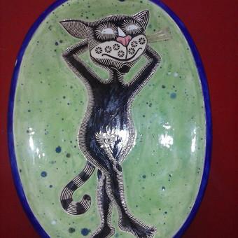 Dekoratyvinė lėkštė su katyte