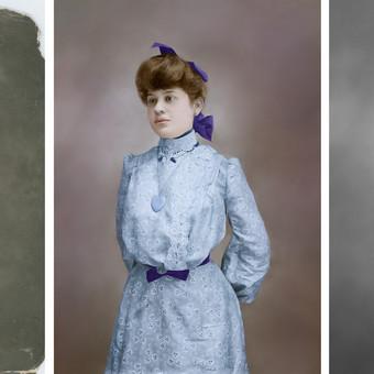 senos nuotraukos restauracija ir spalvinimas