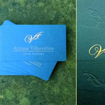Logotipo ir vizitinės kortelės dizainas