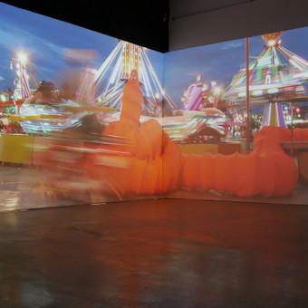 3d mappingas Žilinsko dailės galerijoje.