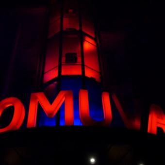 Kauno kino centro Romuva Helovino apšvietimas ir įgarsinimas. ( Šviesos buvo programuojamos pagal siaubo garso takelį )
