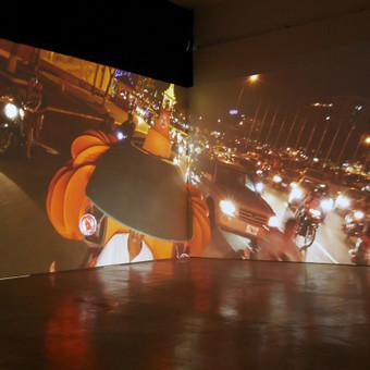Instalecijos rengimas M. Žilinsko galerijoje.