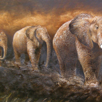 400 eur_Septyni drambliai 160x55, al.drobė.