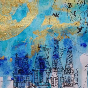 Sienų tapyba, grafika Piesiniai ant sienu Sienu dekoravimas / Julija Janiulienė / Darbų pavyzdys ID 204681