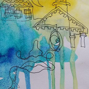 Sienų tapyba, grafika. Piesiniai ant sienu / Julija Janiulienė / Darbų pavyzdys ID 204691