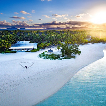 Vestuvės užsienyje. Mauricijus. Fotografavimas iš oro.