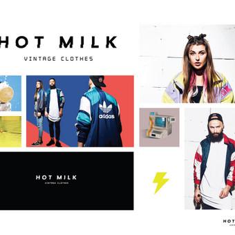 HOT MILK Vintage Clothes logotipas Facebook: Hot Milk Vintage Clothes