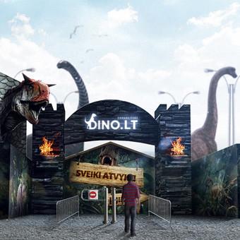Dino parko grafinis apipavidalinimas, gamyba, įrengimas Užsakovas: Dinoparkas (DINO.LT) (Ozas) (Lietuva)