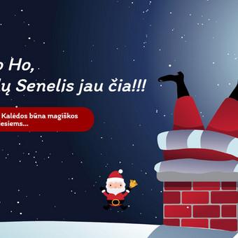 Kalėdų senelio paslaugų svetainė su laiko rezervavimo sistema. www.hohoho.lt
