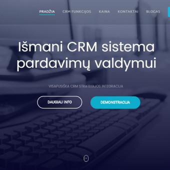 Informacinė svetainė pristatanti naują CRM sprendimą. www.selleris.lt