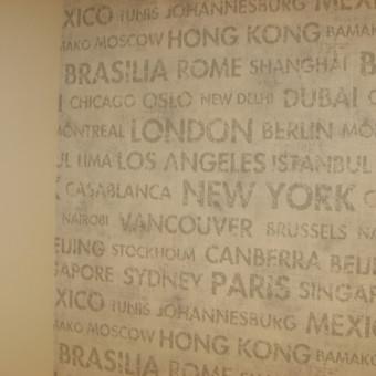 jaunuolio kambario dažytos sienos ir tapeto derinys