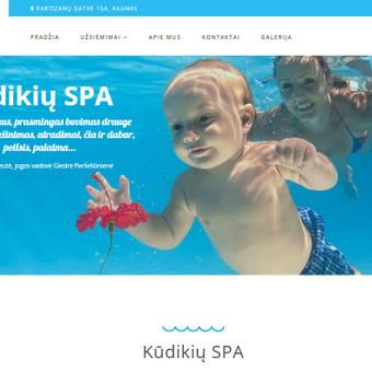 Kūdikių SPA svetainės kūrimas (daugiau darbų www.tackis.lt)