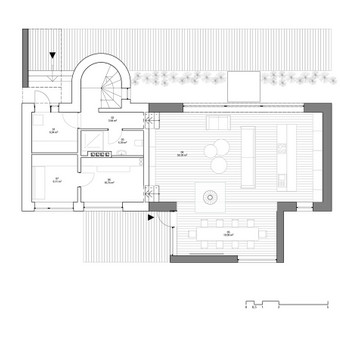Pastato 1.a planas po rekonstrukcijos
