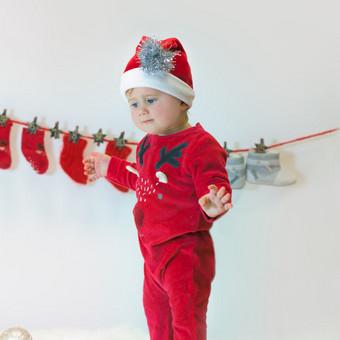 Kalėdinė kūdikio fotosesija