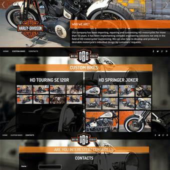 Internetinė svetainė www.obcmotorcycles.com