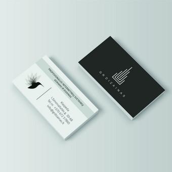 GR Dizainas vizitinė kortelė
