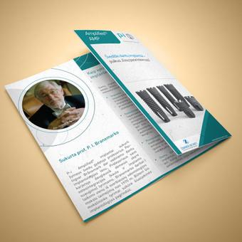 Trijų dalių reklaminė brošiūra.