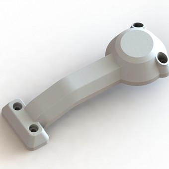 Elektrinio paspirtuko apdailos dalis. Atkurta pagal pavyzdį. Gamybos būdas - 3D spausdinimas.