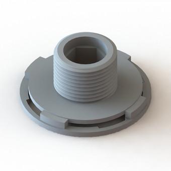 Laistymo sistemos dalis. Atkurta pagal pavyzdį. Gamybos būdas - 3D spausdinimas.