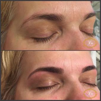 """Antakių korekcija pincetu ir (ar) vašku. Kosmetologė Laura. Grožio studija """"La Beauty"""", Klaipėdoje."""
