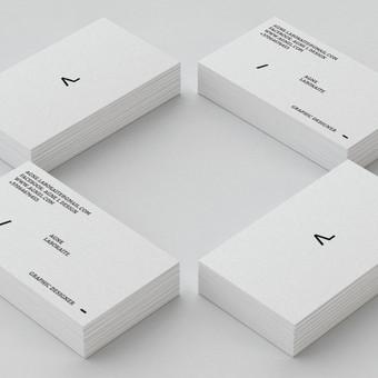 AGNE L Design vizitinė kortelė ir logotipas