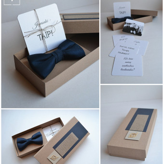 Kvietimas tapti santuokos liudininku. Dėžutės dydis - 100 x 200. Kokybiška spauda + rankų darbas.
