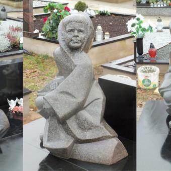 Antkapinė skulptūra, Paširvinčio kapinėse. Granitas, h - 80cm.