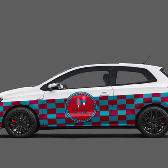 Apipavidalintas pagal firminį stilių 2015m. Volkswagen Polo GTI.