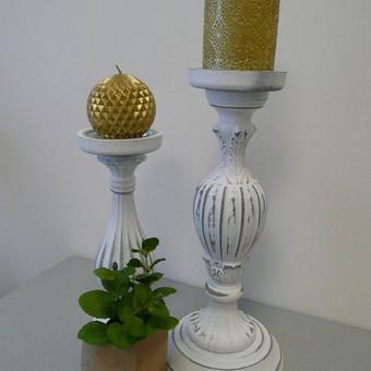 Baltos žvakidės. Kiekis 7 vnt