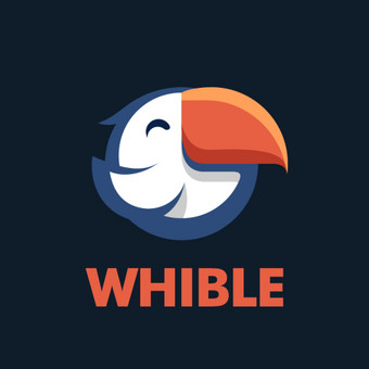"""""""Whible"""" logotipas. https://www.facebook.com/whible.apps/"""