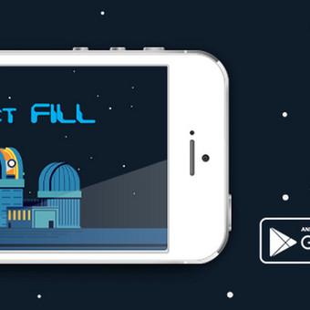 """Project Fill"" reklaminis Facebook profilio fonas."