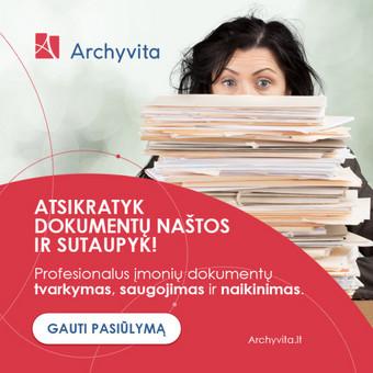 """""""Archyvita"""" Gmail reklamos maketas."""